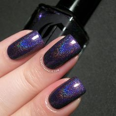 Cirque Fascination Street swatch Dark Horse collection linear holographic purple. Fav nail polish of all time