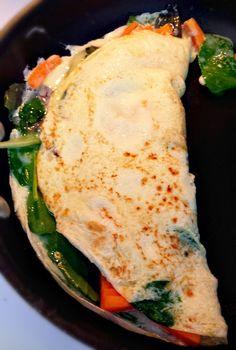 Undressed Skeleton — Spinach Sweet Potato Egg White Omelet for Lunch!