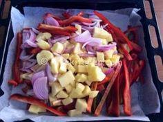 patate peperoni e cipolla