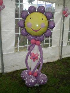Flower Balloon Column