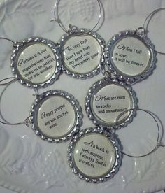 Pride and Prejudice - Wine Glass Charms - #janeausten