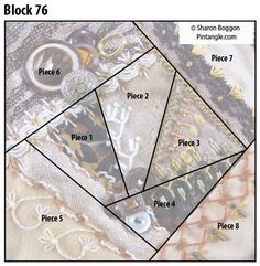 Today I would like to share with readers a pattern for Block 76 which is a natural colour scheme. It is made to sit next to block 75 that has a neutral bone colour scheme. Block 76 has much more co…