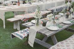 Centros de mesa, boda en el campo, rustic wedding