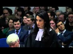 "Amal Clooney's speech in  Switzerland ... Cool and concise, Ms. Clooney delivers the argument against the lower court's ruling against recognizing the Armenian genocide. She finally asks that the court not dishonor the memory of what happened, and to revisit the ""90 kilos"" of evidence that had earlier been entered. Ms. Clooney is a champion for recognizing the Armenian genocide, and I applaud her!"