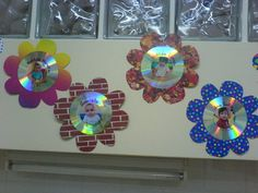CD como decoración curso infantil