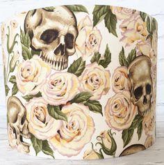 Gothic lampshade Alexander Henry Skulls Restingin by VintageHighSt