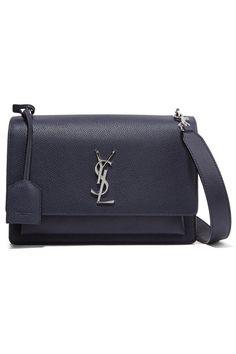 a17110f8b73 SAINT LAURENT Sunset medium textured-leather shoulder bag Ysl Sunset Bag,  Leather Mini Dress
