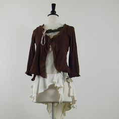 do over clothes. recycled sweater/blouse two piece