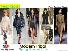 Modern Tribal FashionTrend for Spring Summer 2014 #tribal #fashion #spring2014 #trends #fashiontrends2014