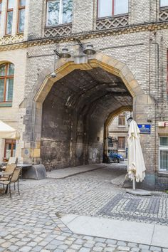 The gate to the White Stork Synagogue in Wroclaw (Breslau), Poland