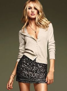 Love the sequin skirt!