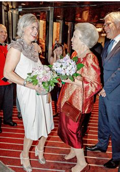 koninklijkhuis: Princess Laurentien and Princess Beatrix attended a gala to honor the birthday of comedian Paul van Vliet, Amsterdam, September 2015 Royal Monarchy, Dutch Royalty, 80th Birthday, Children And Family, Comedians, Holland, Queen, Princess, Dresses