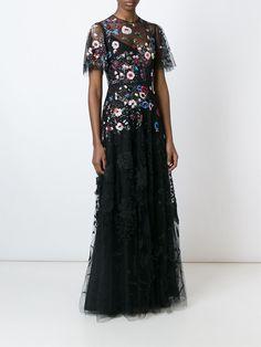 Valentino フローラル刺繍 イブニングドレス