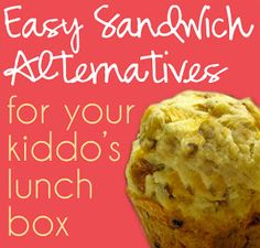 Lunch Box Sandwich Alternatives- pepperoni pizza muffins & corn dog muffins. Make, freeze individually wrapped, pack for lunch...thawed by lunchtime!! Want to try!!