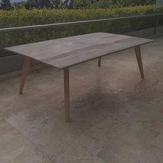 XL Table/ Flor Morado Concreto / Vrokka #woodworking #learnminimalism #minimal #colombia #wood #design #diseñocolombiano #industrialdesign #diseñografico #diseñoindustrial #minimalism #furniture #mobiliario #oak #roble #flormorado #furnituremaker #viroc #table #mesa by vrokka_co Loft, Ping Pong Table, Tablescapes, Minimalism, Dining Table, Chairs, Woodworking, Simple, Instagram Posts
