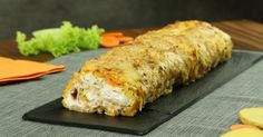 It's the largest potato pancake you will ever see. But the filling is the perfect finishing touch!