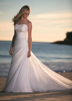 beach theme weddings ideas | Destination Beach Wedding Dress ideas Archives | Weddings Romantique