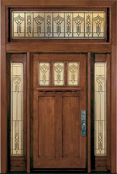 IWP ENTRY DOORS   New Doors & stained glass front entry door with side panels - Bing Images ...