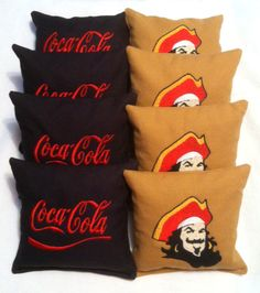 Captain Morgan & Coke Corn Hole Bags  Set of 8 by SewingWhat, $40.00