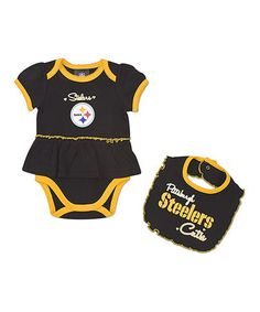 Pittsburgh Steelers Skirted Bodysuit   Bib - Infant. Steelers OnesieSteelers  Baby ... 591784f55
