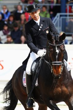 Steffen Peters and Ravel, competing at Aachen.... I would love to work for him for a while or even go to a clinic... brilliant rider