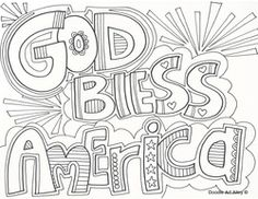 god bless america fourth of july coloring pages - Google Search