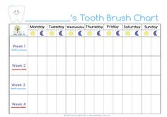 teeth cleaning chart for kids | the chart we have been using for monitoring the brushing of his teeth ...