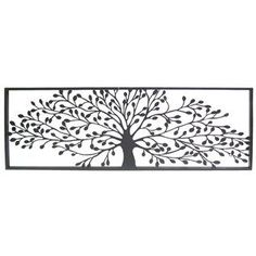 "Add texture and dimension with this elegant Black Framed Tree Metal Wall Décor.  Made to hang on the wall, the decorative piece measures approximately 36"" x 3/4"" x 12 $49.99"