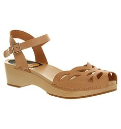 Swedish Hasbeens Ornament Nature Leather - Sandals