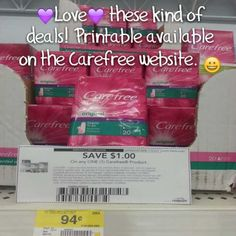 FREE Carefree Liners at Walmart or Target After Printable Coupon!