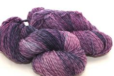 Plum Dandy on twisted worsted merino by DiscoBabyKnits