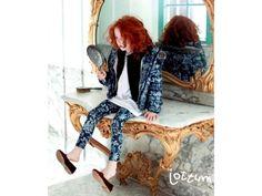 Jottum NEW Winter 2014 tricot blue flower legging Hilton 116 6 Y