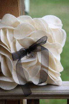 Petal Ring Bearer Pillow by thePinUpShop on Etsy, $14.00