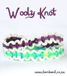 Wooly Knot Loom Band Bracelet Tutorial
