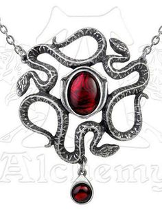 Alchemy Gothic Serpent's Eye Snake Necklace