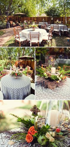 Outdoor set-up like this! Love
