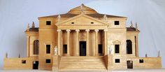 Palladio showed that it was possible to shape a form of architecture that seemed almost timeless. Informed by mathematical logic, it was highly practical, rich in ideas and lacked any over-elaborate decoration. Here, a model of the Villa Capra, known as the Villa Rotonda, 1970 is shown in lime and beech wood with porcelain biscuit details. 65.5 x 140 x 140 cm, Centro Internazionale di Studi di Architettura Andrea Palladio, Vicenza  Alberto Carolo/Royal Academy