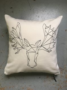 Geometric Moose Pillow