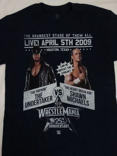 The Undertaker Vs Shawn Michaels Wrestlemania XXV 25 WWE Wrestling T-Shirt #UndertakerShawnMichaels #GraphicTee