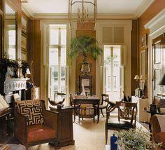 Good looking neutrals, love floor to ceiling French doors...looks like Savannah.