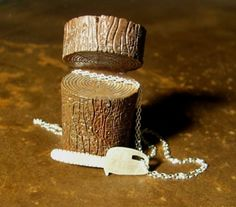 CHAINSAW sterling silver necklace by ballandchain on Etsy, $60.00