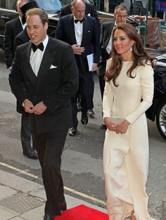 Duke and Duchess of Cambridge.  They do formal black and white so well!