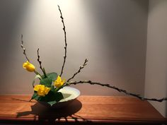 Slanting style (Keisha kei) / Pussy Willow, Tulip, Ivy leaf