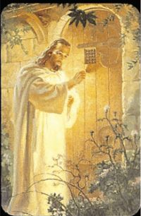 My grandma always displayed this picture of Jesus knocking on heart's door back when I was about 5 years old.  I'd stare at it forever, not fully understanding the true meaning.  Praise God, I indeed opened that door, years later. <3