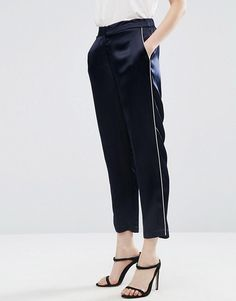 ASOS LUXE - PANTALON DE PYJAMA AVEC PASSEPOIL #style #fashion #trend #onlineshop #shoptagr