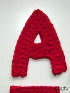 El Moogly ganchillo Alfabeto - patrones gratis!  #crochet