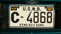 Guantanamo Bay, Cuba license - still have my plate too. :)
