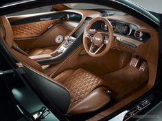 Excellent luxury cars information is offered on our site. Read more and you wont be sorry you did. Bentley Exp 10, Bentley Speed, New Bentley, Bentley Continental Gt, Custom Car Interior, Car Interior Design, Bentley Interior, Interior Photo, British Racing Green