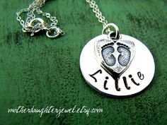 Mommy Jewelry  Personalized Necklace  Baby by MotherDaughterJewel, $38.00