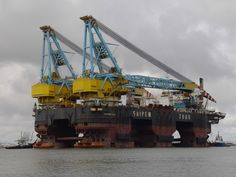 "Saipem 7000 - one of the world's largest semi-submersible cranes. 70MW for dynamic stabilization (""thrusters"")."